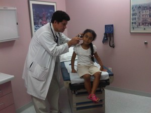Dr. Argueta and patient